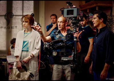 """Didier Fremont en tournage sur """"Les petits meurtres d'Agatha Christie"""""""