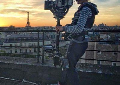 Fanny Coustenoble sur les toits de Paris