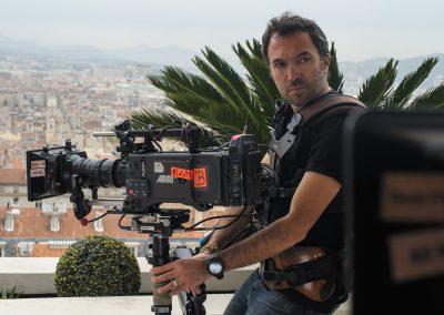 """Jérôme Carles en tournage sur """"Caïn"""""""