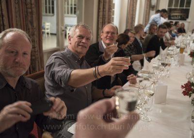 Diner de fin de stage. Peter, Patrick et Larry